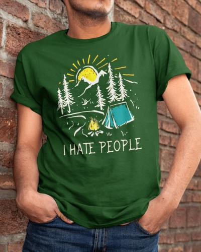 i hate people i love camping shirt