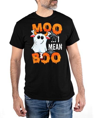 Moo I mean boo halloween shirt
