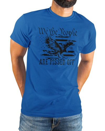 Eagle we the people are pissed off american flag shirt