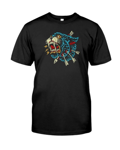 angry panther beast tall shirt