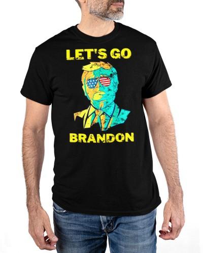Anti Joe Biden Chant American sunglasses Lets Go Brandon Shirt