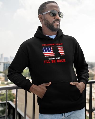 impeachment champ ill be back trump 2024 shirt