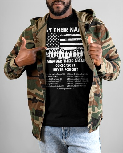 say their names shirt remember their names never forget our veterans