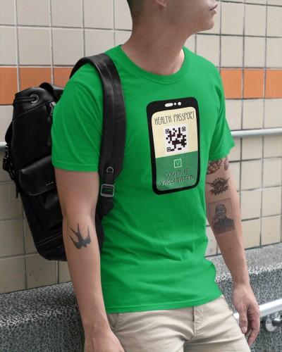 funny health passport covid 19 vaccinated shirt