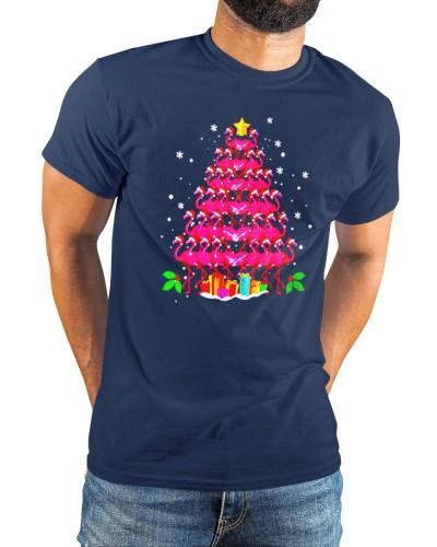 Official pink Flamingo Christmas Tree shirt