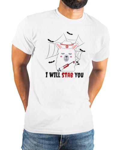 happy halloween lama nurse vaccinated shirt
