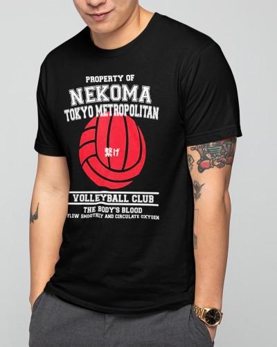 Property Of Nekoma Tokyo Metropolitan Volleyball Club Shirt