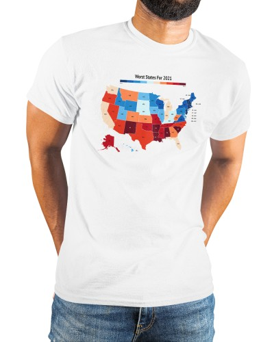 the worst states in america 2021 shirt