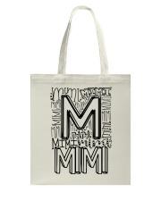 MIMI - TYPOGRAPHIC DESIGN Tote Bag thumbnail