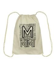 MIMI - TYPOGRAPHIC DESIGN Drawstring Bag thumbnail