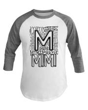 MIMI - TYPOGRAPHIC DESIGN Baseball Tee thumbnail