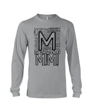 MIMI - TYPOGRAPHIC DESIGN Long Sleeve Tee thumbnail