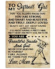 TO MY SOFTBALL GIRL - MOM 16x24 Poster front