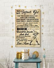 TO MY SOFTBALL GIRL - MOM 16x24 Poster lifestyle-holiday-poster-3