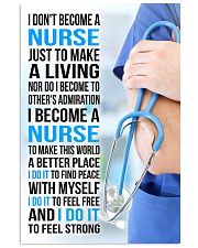 I DON'T BECOME A NURSE JUST TO MAKE A LIVING 11x17 Poster front