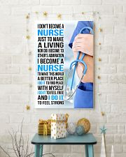 I DON'T BECOME A NURSE JUST TO MAKE A LIVING 11x17 Poster lifestyle-holiday-poster-3