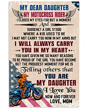 MY DEAR DAUGHTER - MOTOCROSS RIDER 16x24 Poster front