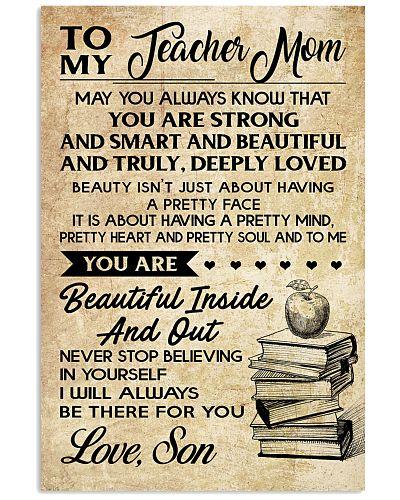 TO MY TEACHER MOM - SON