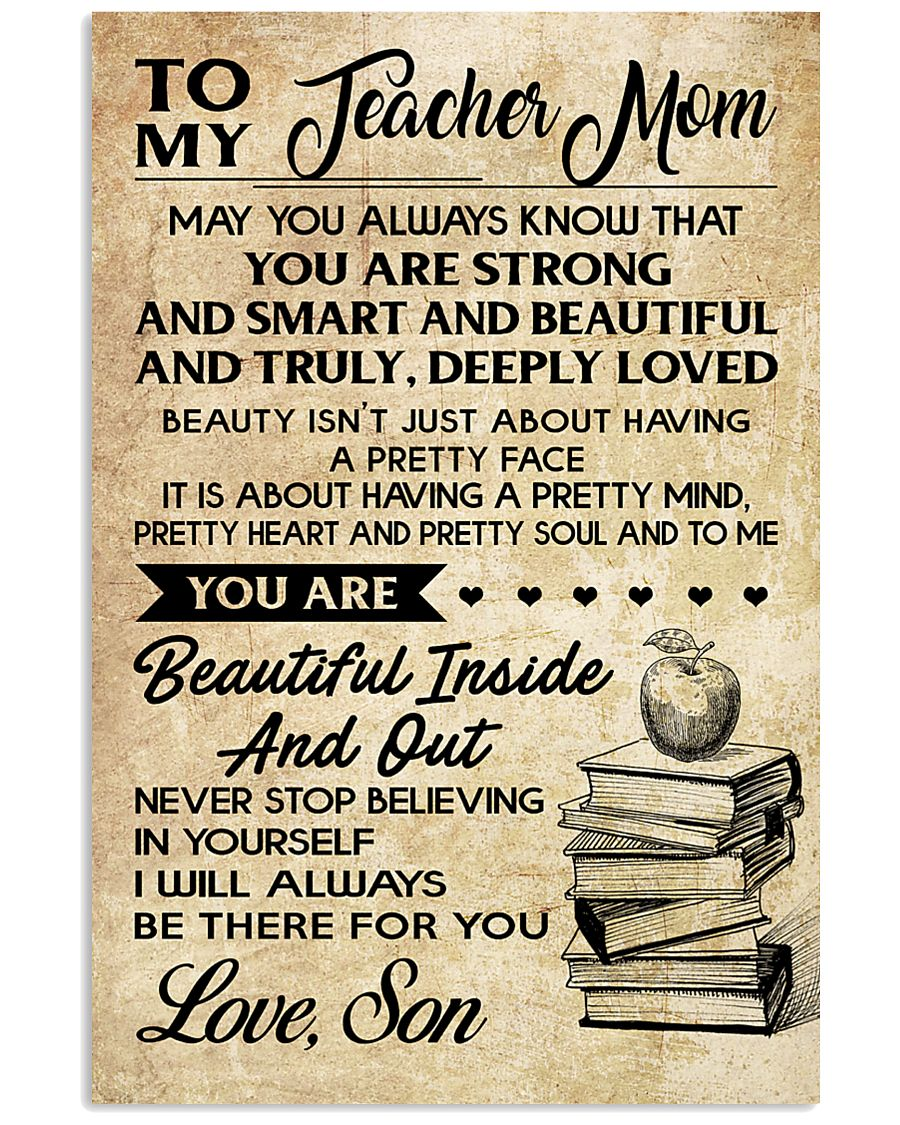 TO MY TEACHER MOM - SON 16x24 Poster