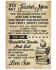 TO MY TEACHER MOM - SON 16x24 Poster front
