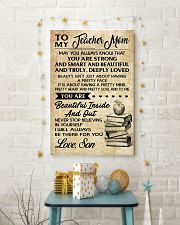 TO MY TEACHER MOM - SON 16x24 Poster lifestyle-holiday-poster-3