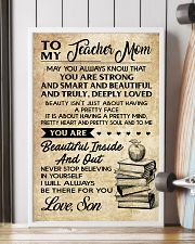 TO MY TEACHER MOM - SON 16x24 Poster lifestyle-poster-4