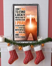 8- I DON'T PRAY TO FIND LUCKY 11x17 Poster lifestyle-holiday-poster-4