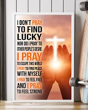 8- I DON'T PRAY TO FIND LUCKY 11x17 Poster lifestyle-poster-4