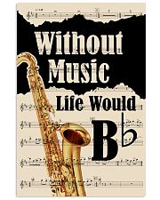 WITHOUT MUSIC LIFE WOULD - TENOR SAXOPHONE POSTER  11x17 Poster front