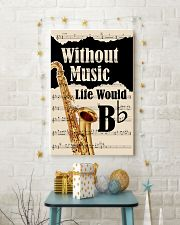 WITHOUT MUSIC LIFE WOULD - TENOR SAXOPHONE POSTER  11x17 Poster lifestyle-holiday-poster-3