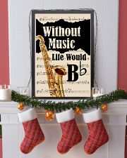 WITHOUT MUSIC LIFE WOULD - TENOR SAXOPHONE POSTER  11x17 Poster lifestyle-holiday-poster-4