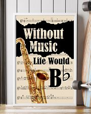 WITHOUT MUSIC LIFE WOULD - TENOR SAXOPHONE POSTER  11x17 Poster lifestyle-poster-4