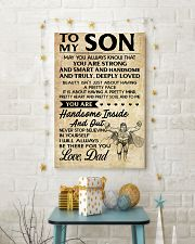 TO MY SON- DAD 16x24 Poster lifestyle-holiday-poster-3