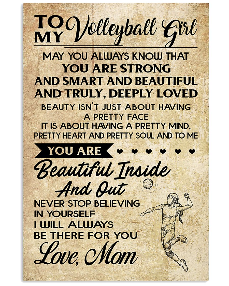 TO MY volleyball girl- mom 16x24 Poster