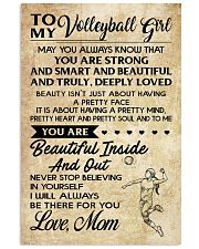 TO MY volleyball girl- mom 16x24 Poster front