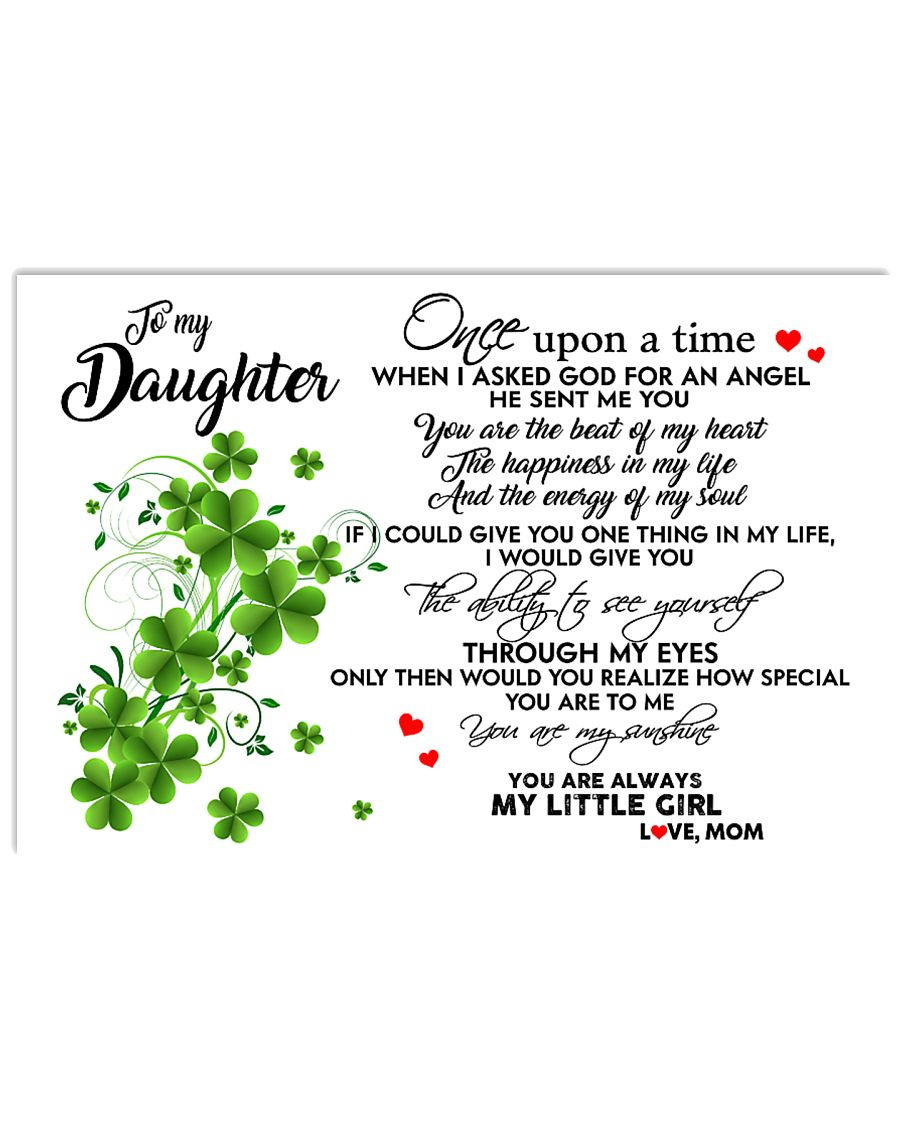 TO MY DAUGHTER- ONE UPON A TIME PILLOW- MOM 17x11 Poster