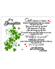 TO MY DAUGHTER- ONE UPON A TIME PILLOW- MOM 17x11 Poster front