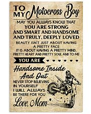 TO MY MOTOCROSS BOY - MOM 16x24 Poster front