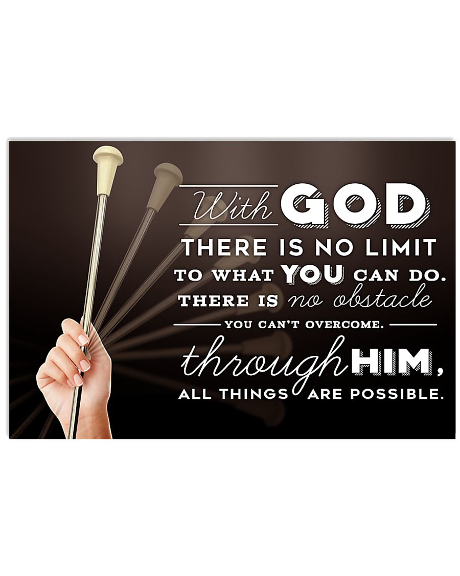 4- BATON TWIRLING - WITH GOD 17x11 Poster
