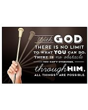 4- BATON TWIRLING - WITH GOD 17x11 Poster front