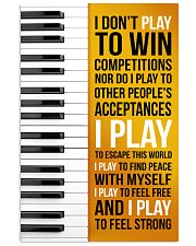 PIANO - I DON'T PLAY TO WIN COMPETITIONS 11x17 Poster front