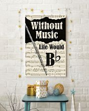 WITHOUT MUSIC LIFE WOULD - FLUTE POSTER 11x17 Poster lifestyle-holiday-poster-3