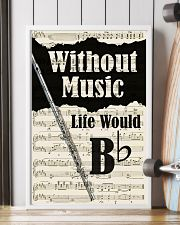 WITHOUT MUSIC LIFE WOULD - FLUTE POSTER 11x17 Poster lifestyle-poster-4