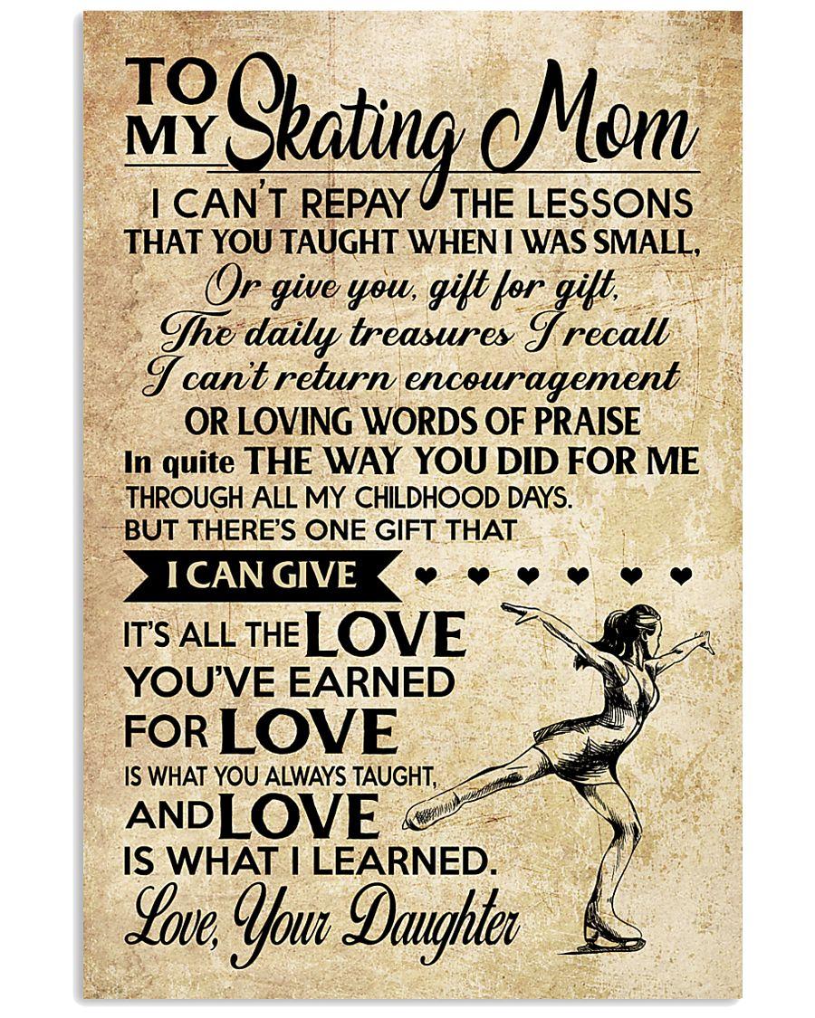 Skating - Loving Words Poster SKY 11x17 Poster
