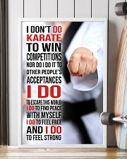 I DON'T DO KARATE TO WIN COMPETITIONS 11x17 Poster lifestyle-poster-4