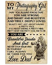TO MY PHOTOGRAPHY GIRL DAD 16x24 Poster front