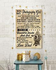 TO MY PHOTOGRAPHY GIRL DAD 16x24 Poster lifestyle-holiday-poster-3