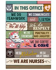 IN THIS OFFICE - WE ARE NURSES 11x17 Poster front