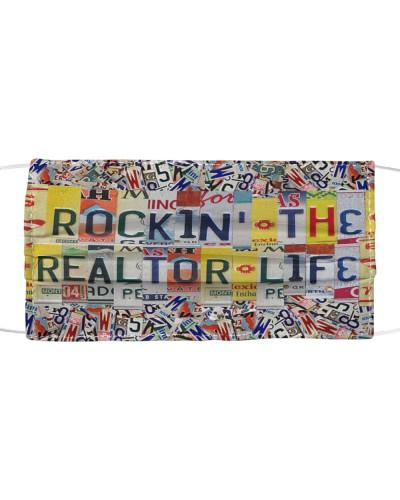 rockin' the realtor life license plates mask