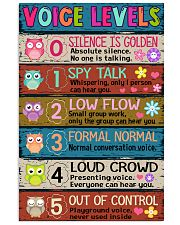 TEACHER - VOICE LEVELS POSTER 11x17 Poster front
